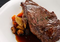 northwater's ribeye steak with roasted vegetables