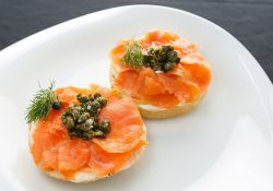 bagel with lox from the FV Nerca