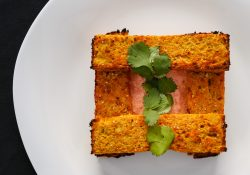 baked curry lentil planks with marsh yogurt sauce